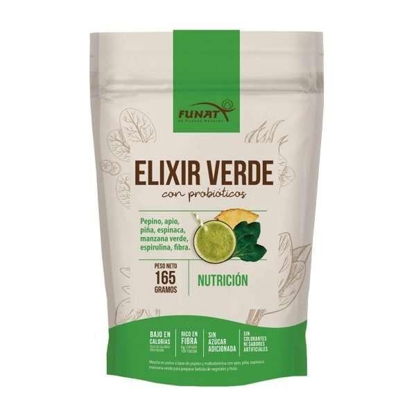 Elixir Verde - Jugo Verde Instantáneo con mezcla de vegetales y frutas liofilizadas - Funat